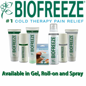 Number 1 cold therapy pain relief. Sold at In Balance Family Chiropractic & Wellness Centre. Available in Gel, Roll-on and spray.